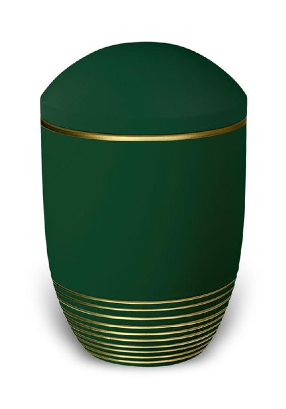 urn keramiek wave jade gold