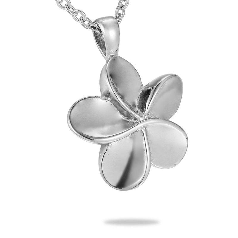 assieraad bloem rvs in zilverkleur