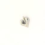 assieraad hartje rvs in zilverkleur