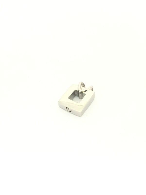 assieraad open vierkant met hartvormige hanger
