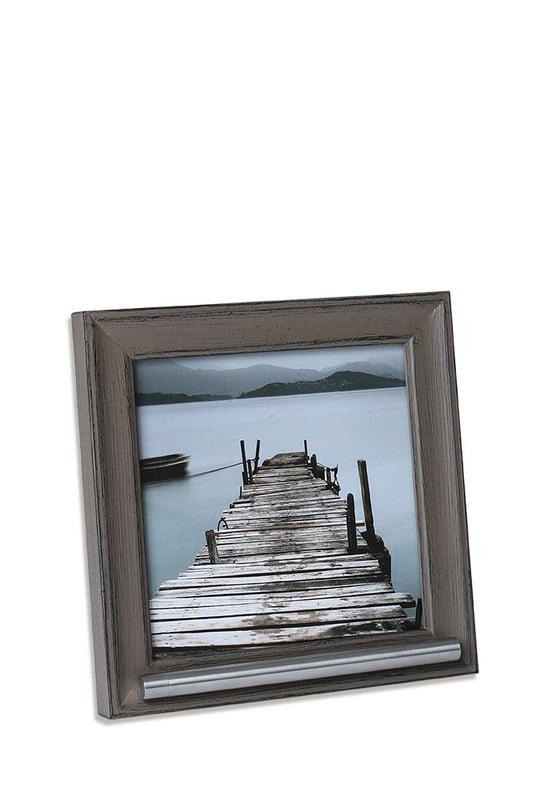 Fotolijst met asbusje 13x13 grijs-bruin