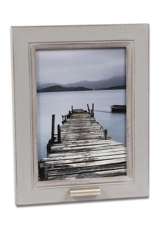 fotolijst met klein asbusje 13x18 oud wit