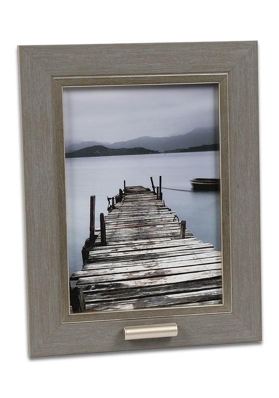 fotolijst met klein asbusje 13x18 oud-grijs