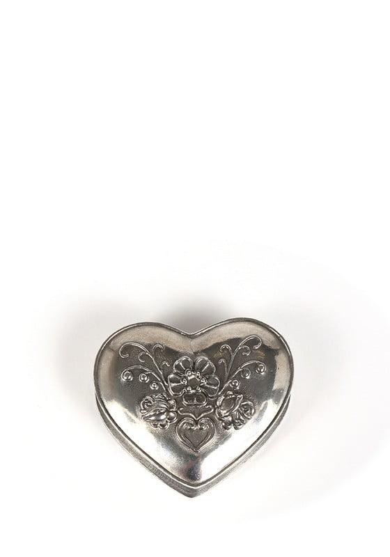 mini urn hart met bloemen