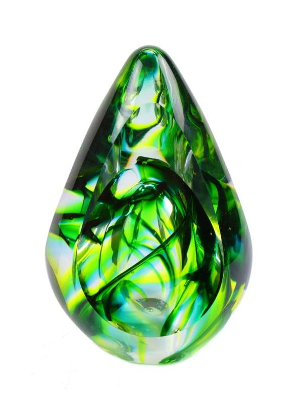 mini urn glas ovale druppel aurora