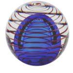 mini urn glas kringloop van het leven blauw