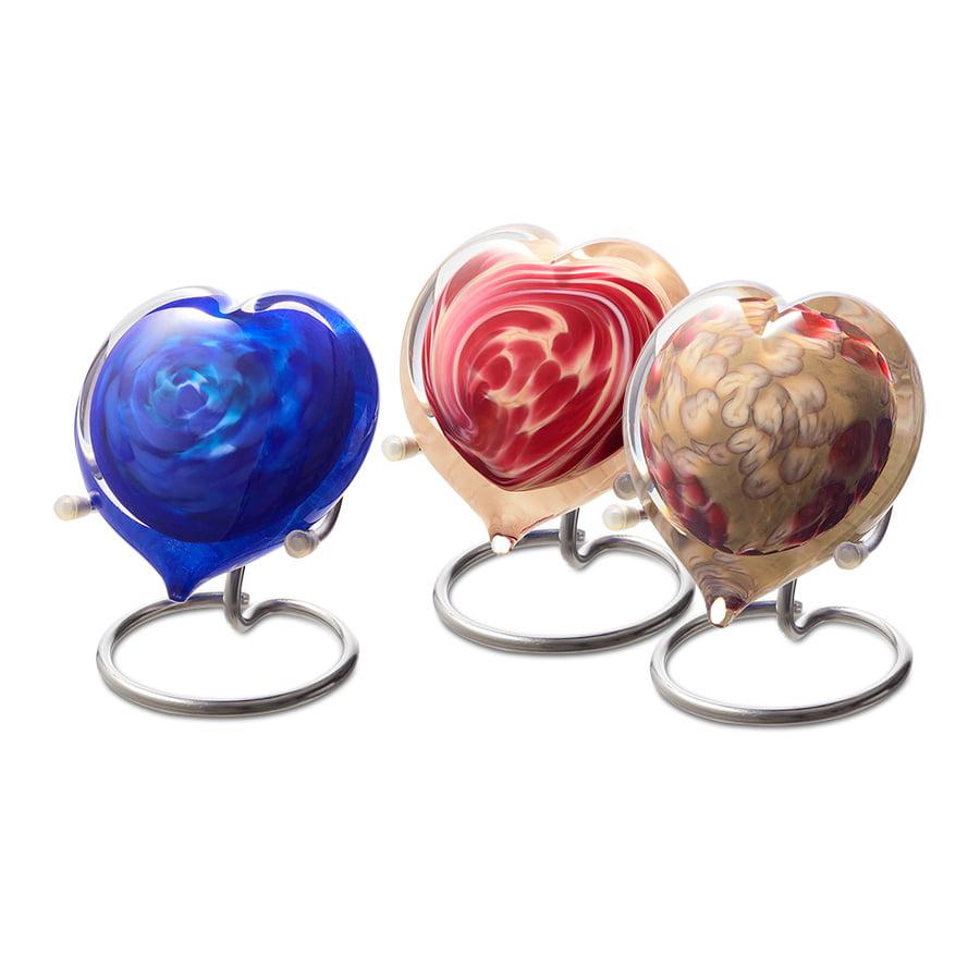 mini urn as pebble hart medium