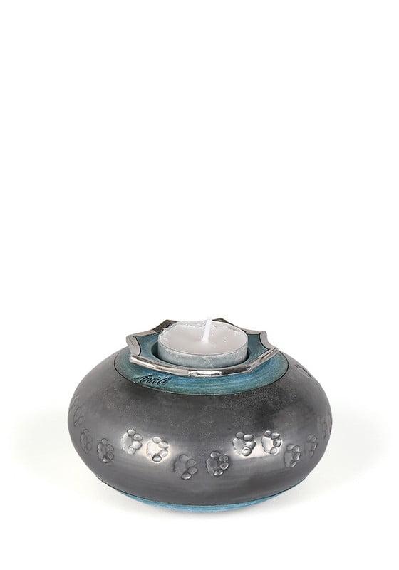 dieren mini urn flora met hondenpootjes of kattenpootjes