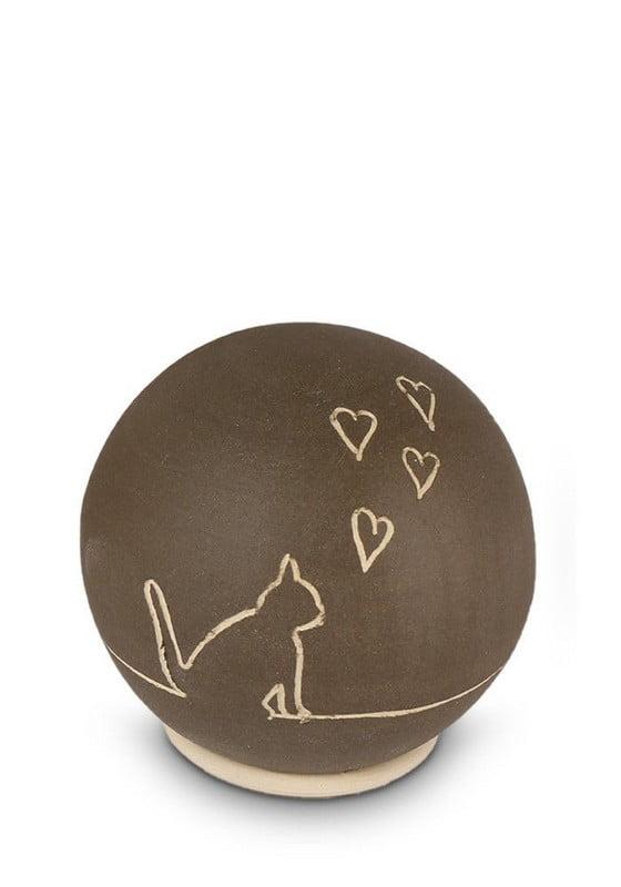 dieren mini urn kattenafbeelding