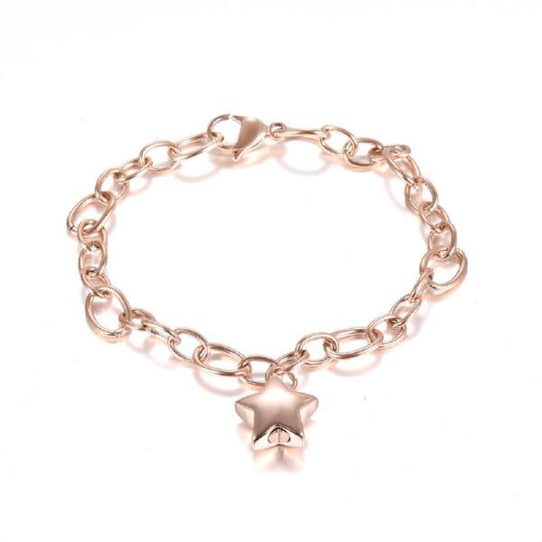 assieraad schakel armband met ster rosé goud