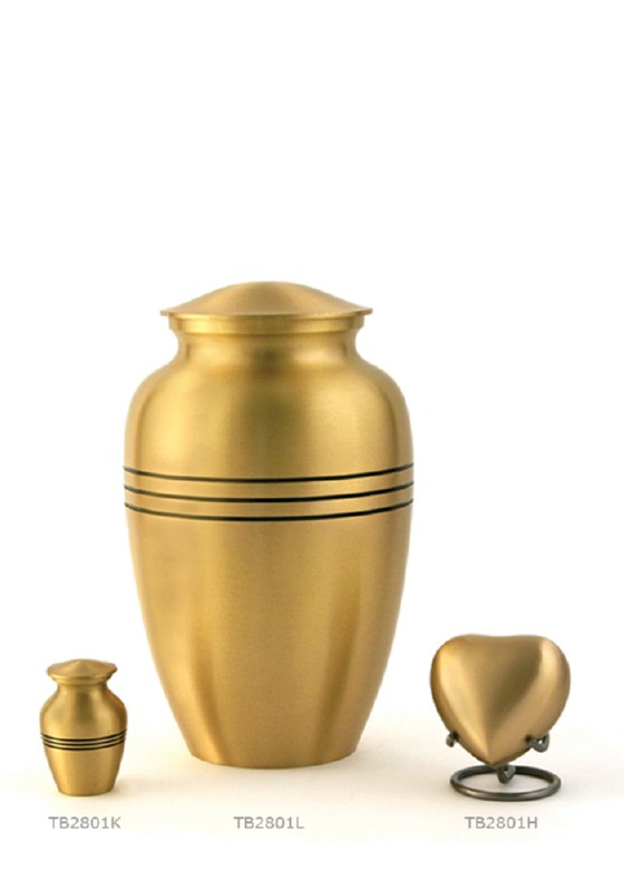 urn grecian in kleur brons of tin met veilige sluiting