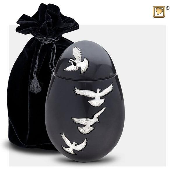zwart vogel urn medium Adieu Nirvana Collection