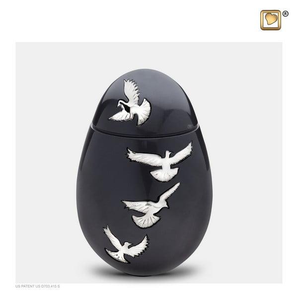 zwarte vogel urn medium Adieu Nirvana Collection
