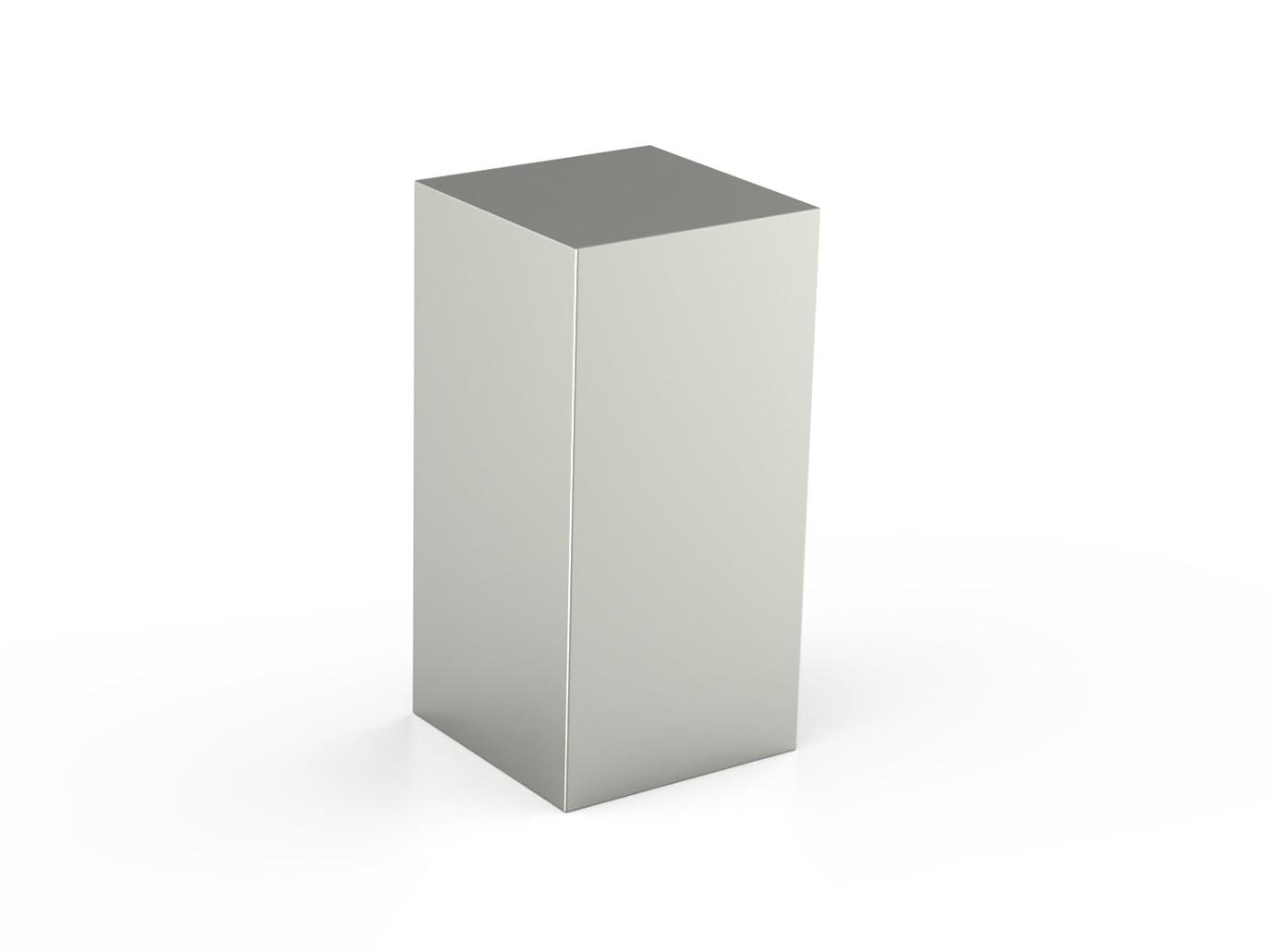 rvs urn pilaar rechthoek
