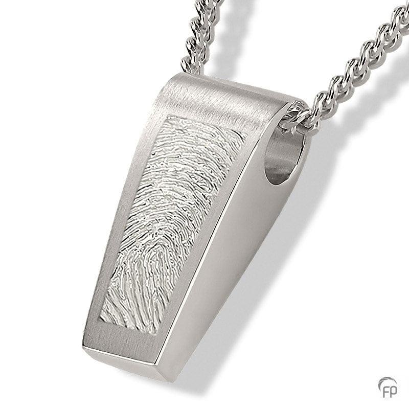 fingerprint assieraad zilver trapezium met assieraad