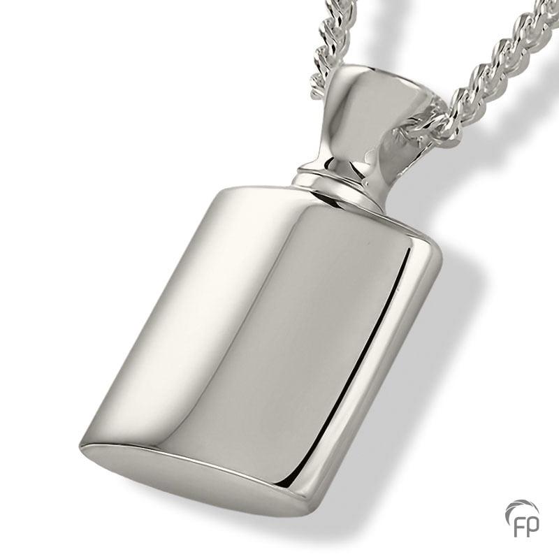 fingerprint assieraad zilver flacon met askamer
