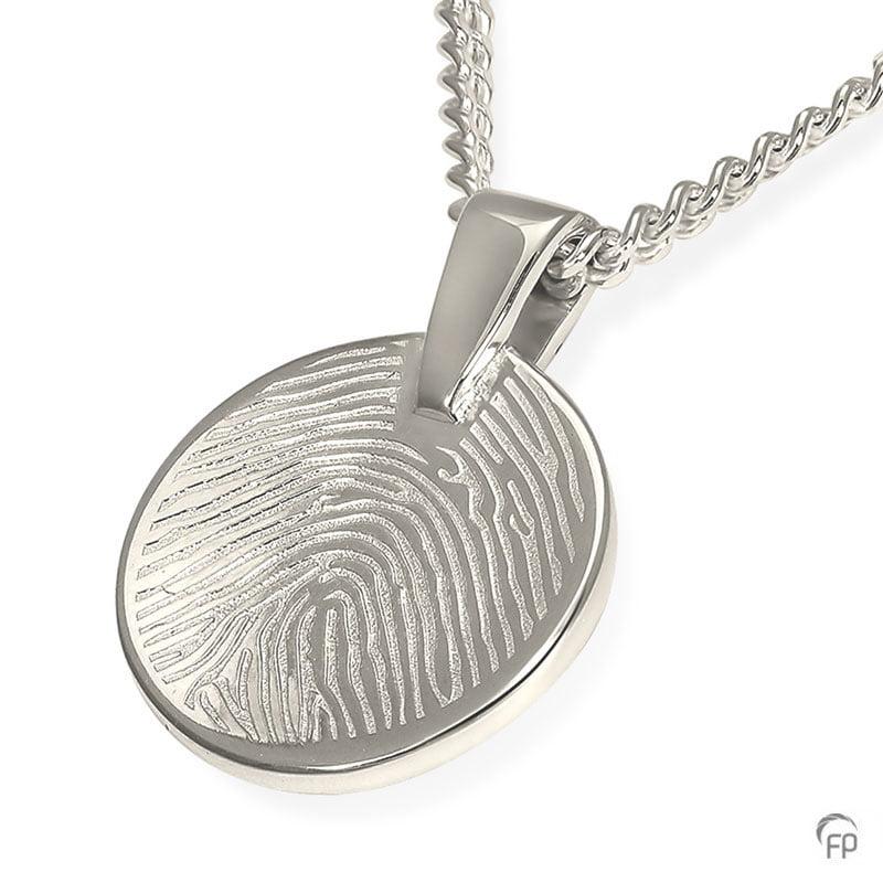 fingerprint assieraad zilver munt