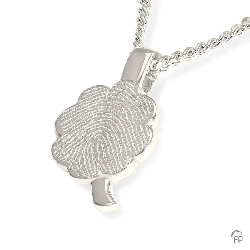 fingerprint-assieraad-zilver-klavertje-vier-plat
