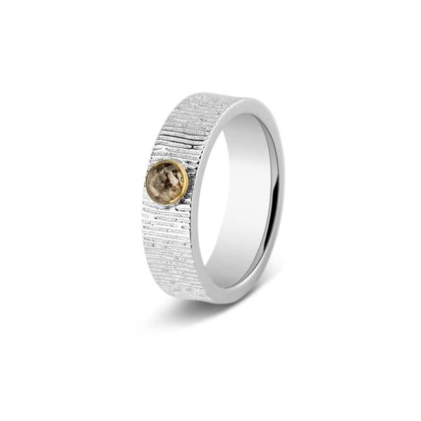 asring horizontaal gestreept zilver met goud see-you-S