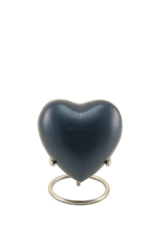 Mini urn hart mat in effen kleuren