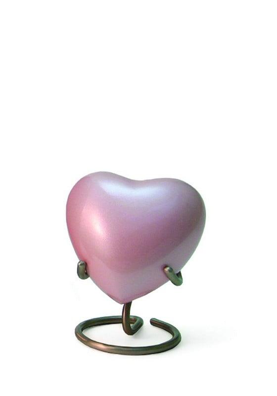 Mini urn hart hoogglans in diverse kleuren