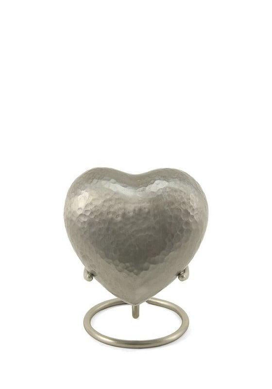 Mini urn hart metallic in verschillende kleuren