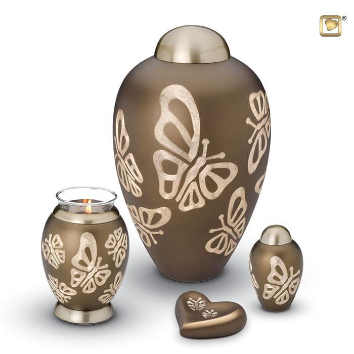 elegant butterfly urn collectie