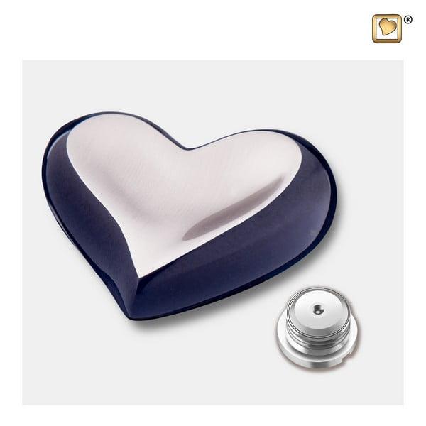 mini urn harten messing in diverse kleurcombinaties