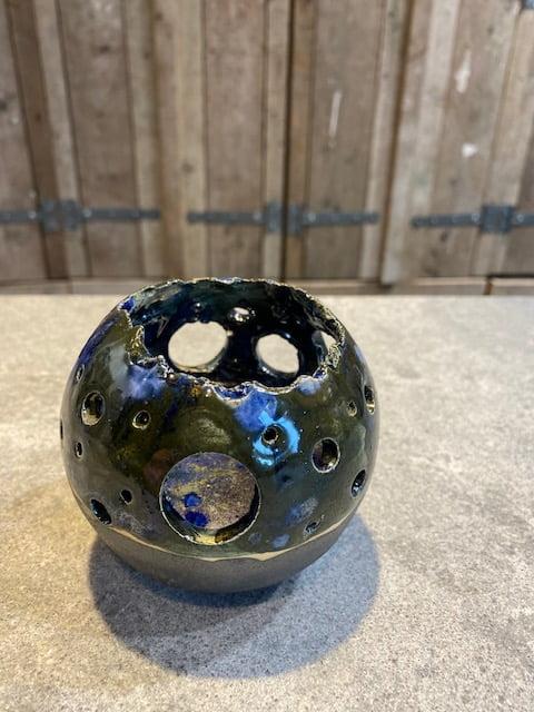 windlicht urn serie blue green