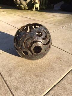 windlicht urn serie zon en maan brons