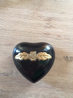 mini urn hart SALE zwart gewolkt
