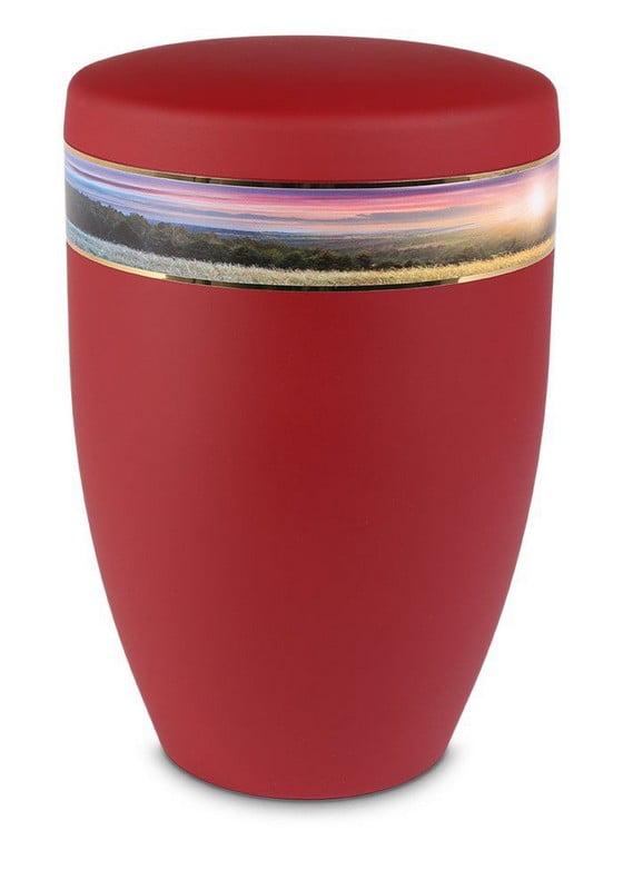 uitzicht bos rood biologische urn