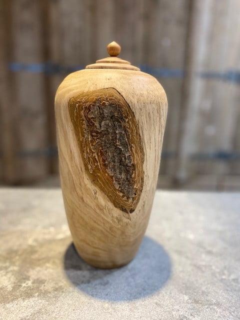 houten natuur urn abrikoos staand medium
