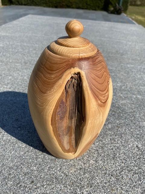 houten natuur urn taxus staand medium