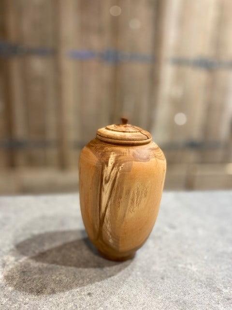 Natuur urn pruim mini hout