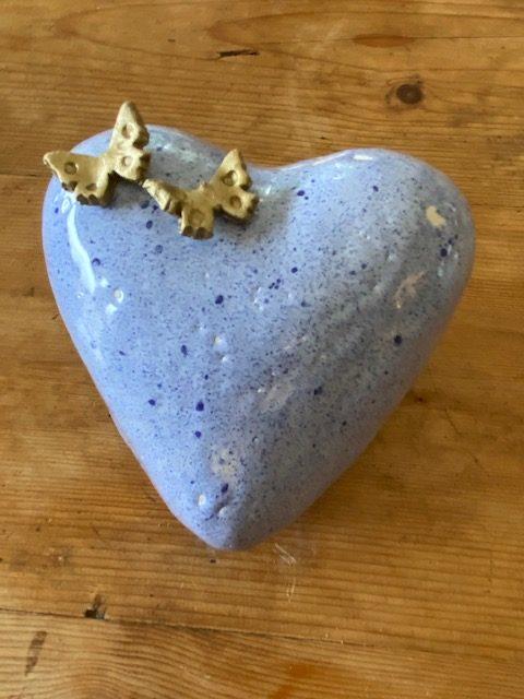 hart urn keramiek pastel kinderurn