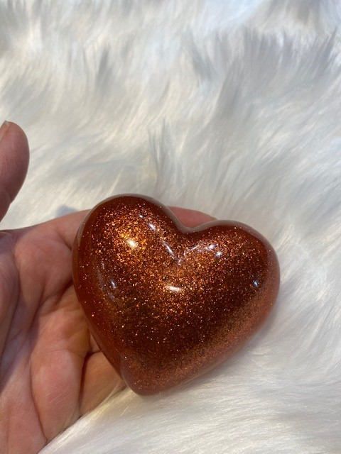 koester resin ronde hart urn in vele kleuren
