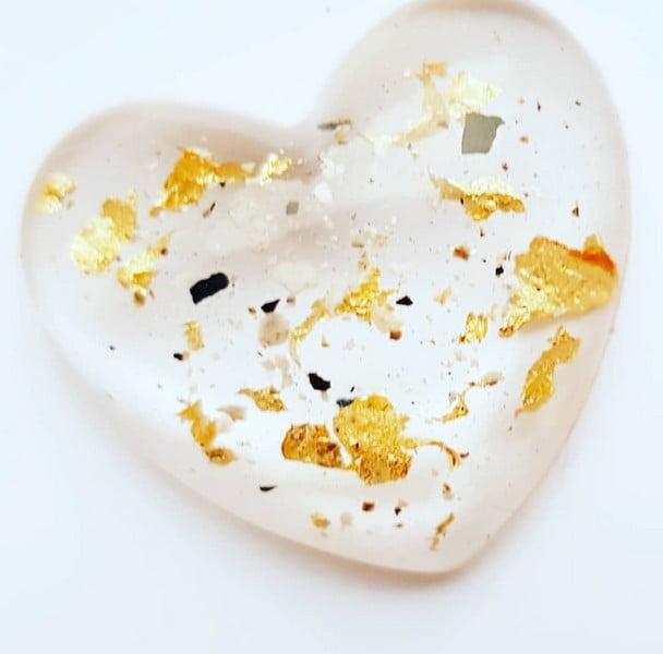urn hart little heart met goud of zilver