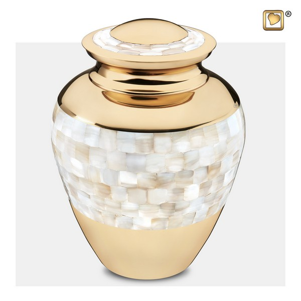 mother of pearl urn collectie