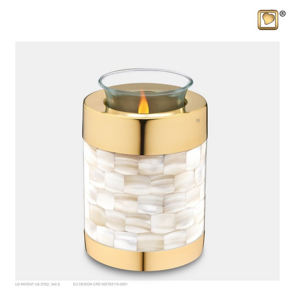 mother of pearl collectie windlicht-T230