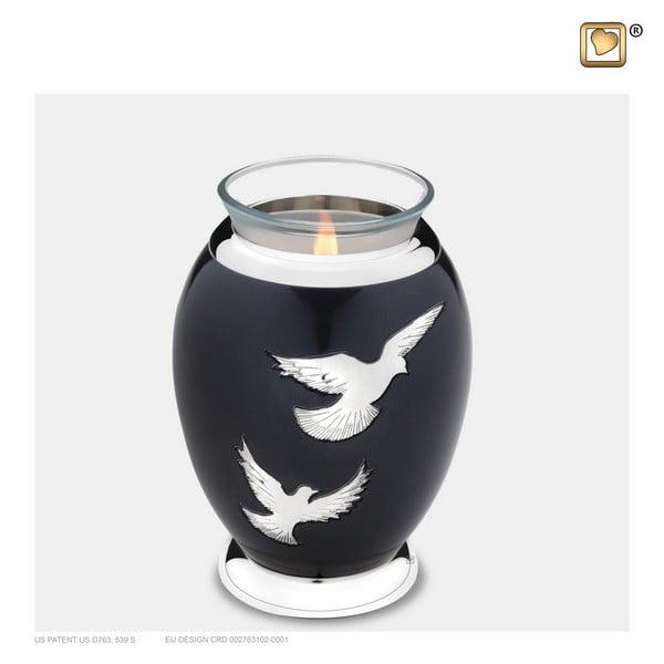 zwarte vogel windlicht urn Adieu Nirvana Collection