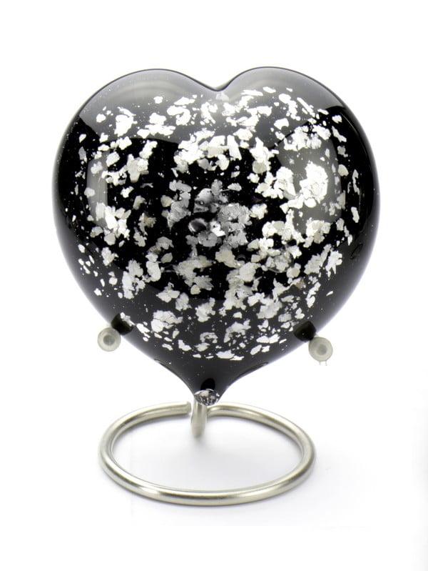 mini-urn-glas-zwart-zilver-hart