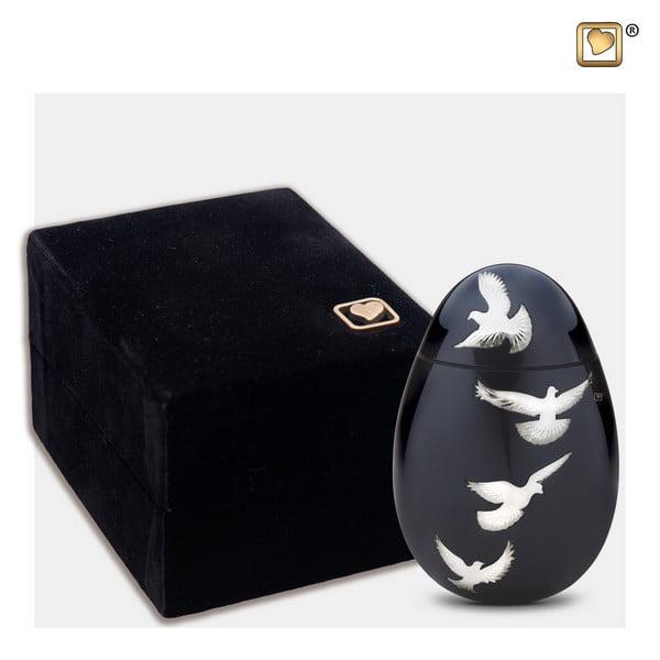 zwart vogel urn keepsake Adieu Nirvana Collection