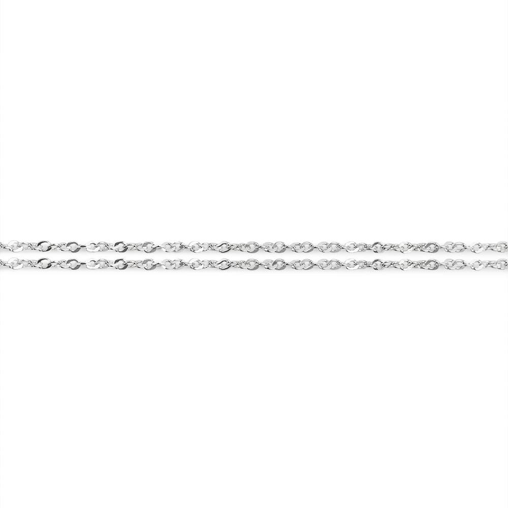 dubbel zilveren ketting collier 126 S