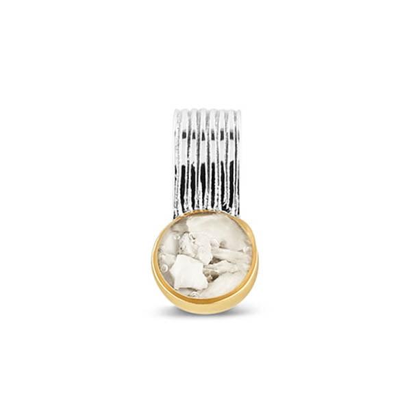 Zilveren hanger met 14 karaat goud 229 SY