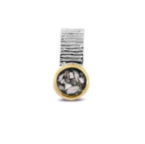 zilveren hanger met 14 karaat goud 230 SY