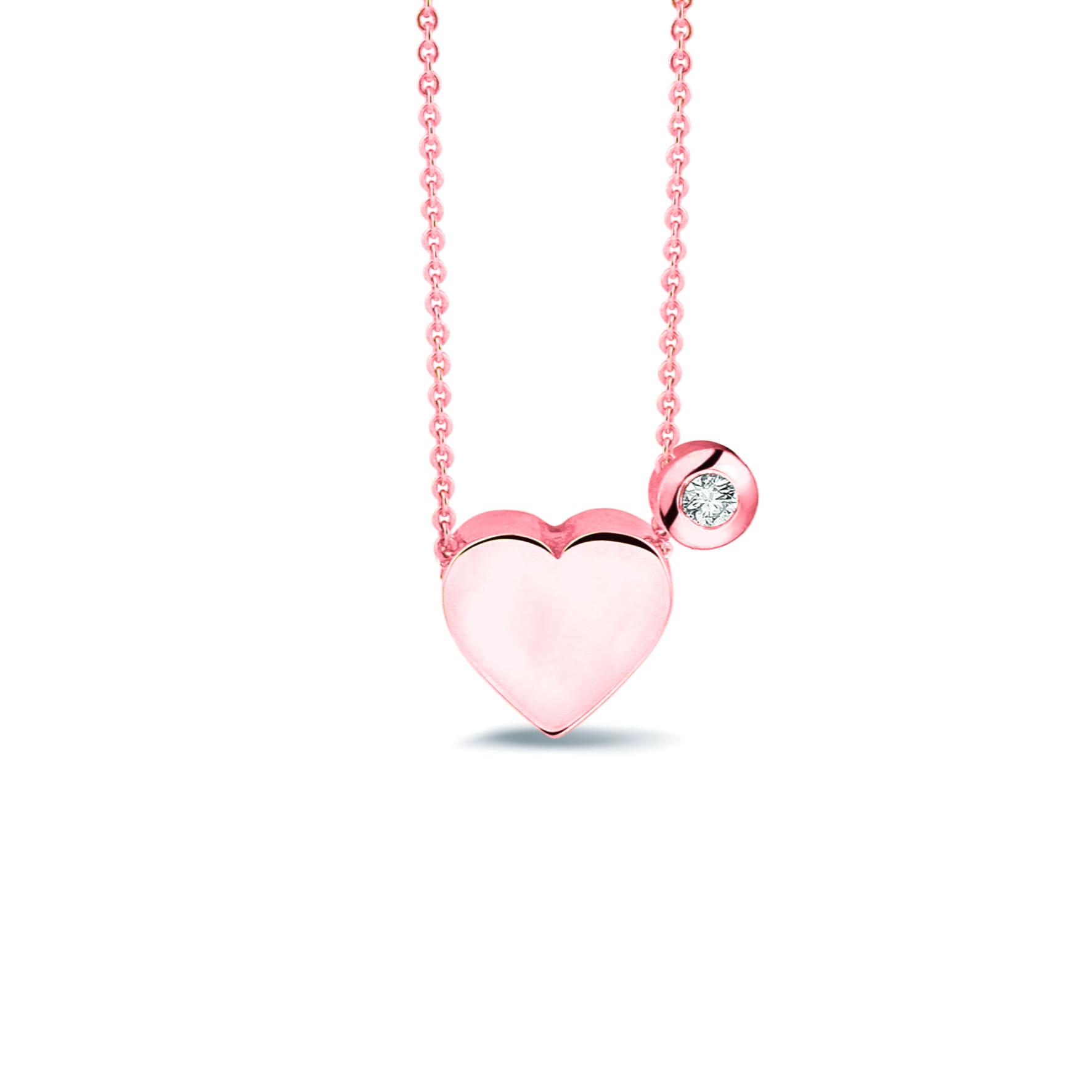 hanger hartje 701 R Rosé Goud + 707 R Diamant