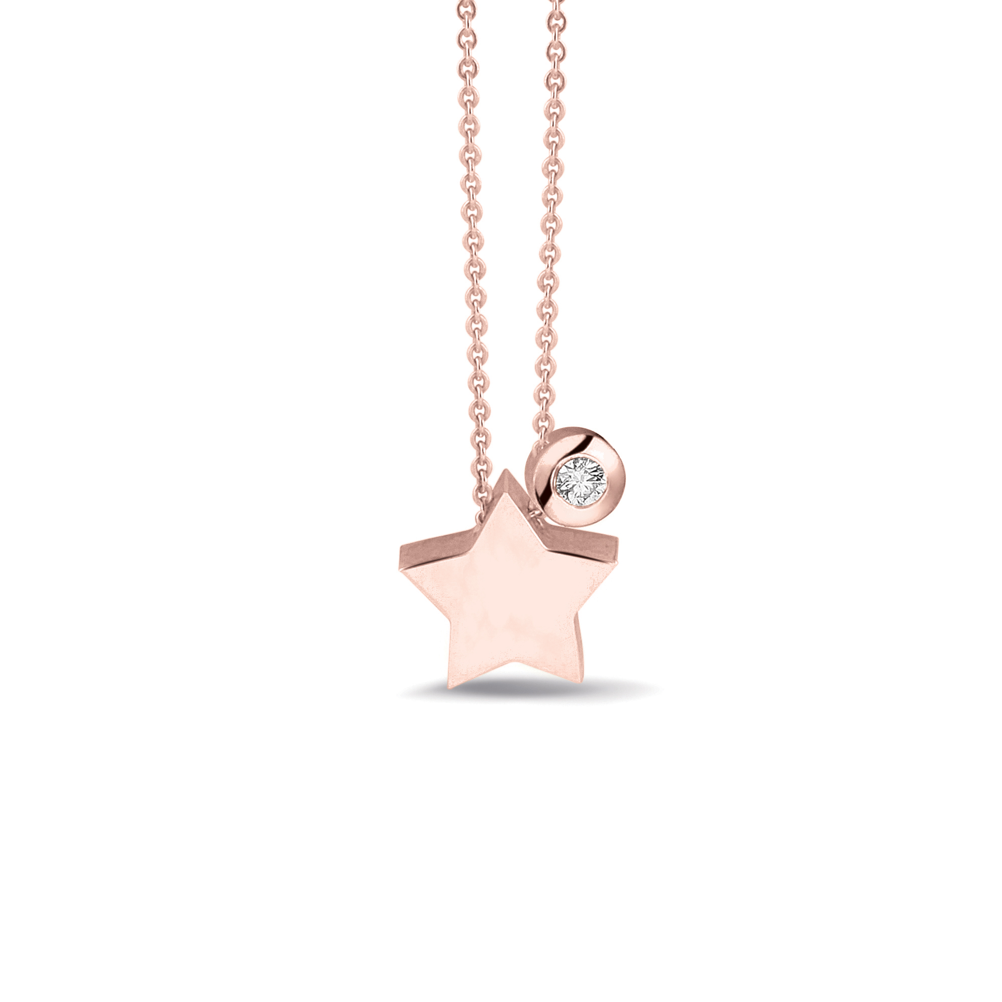 ster hanger 702 R Goud + 707 R Diamant