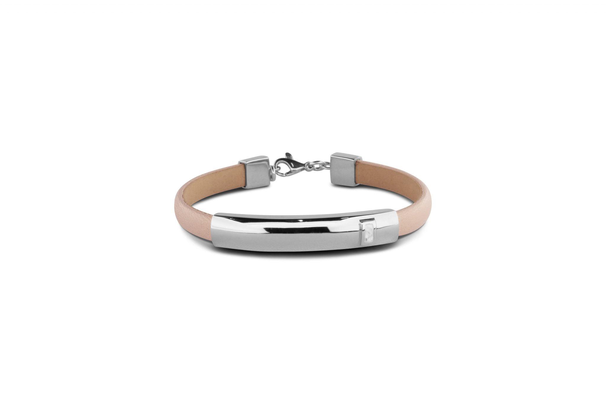 gedenksieraad armband met lederen bandje BL 013