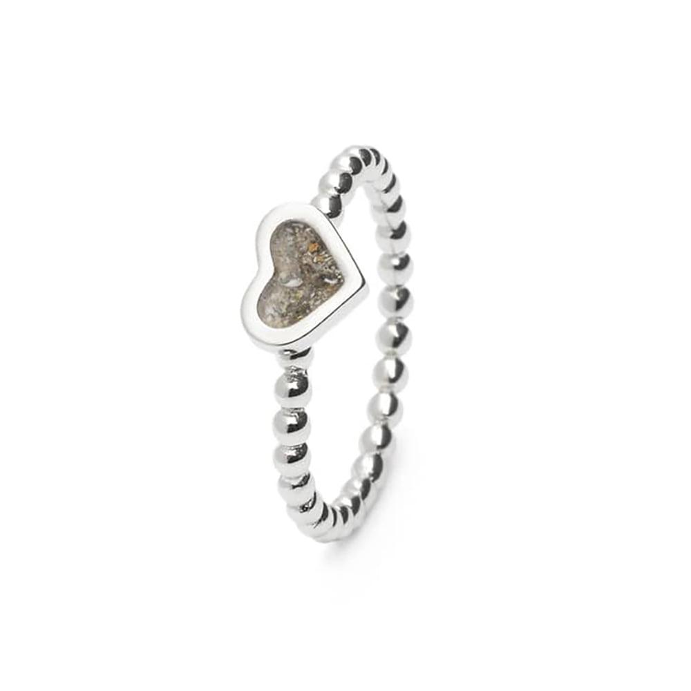 Zilveren asring bolletjes hart RG001